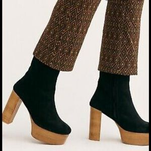 Free People Friday Night Platform Boots Suede 8.5